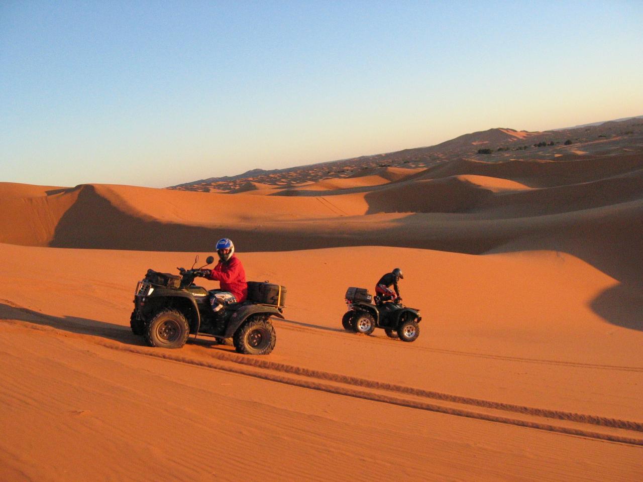 days from marrakech to desert,Desert Morocco, Ouarzazate ait ben haddou,Quad and bike in Erg Chebbi Merzouga
