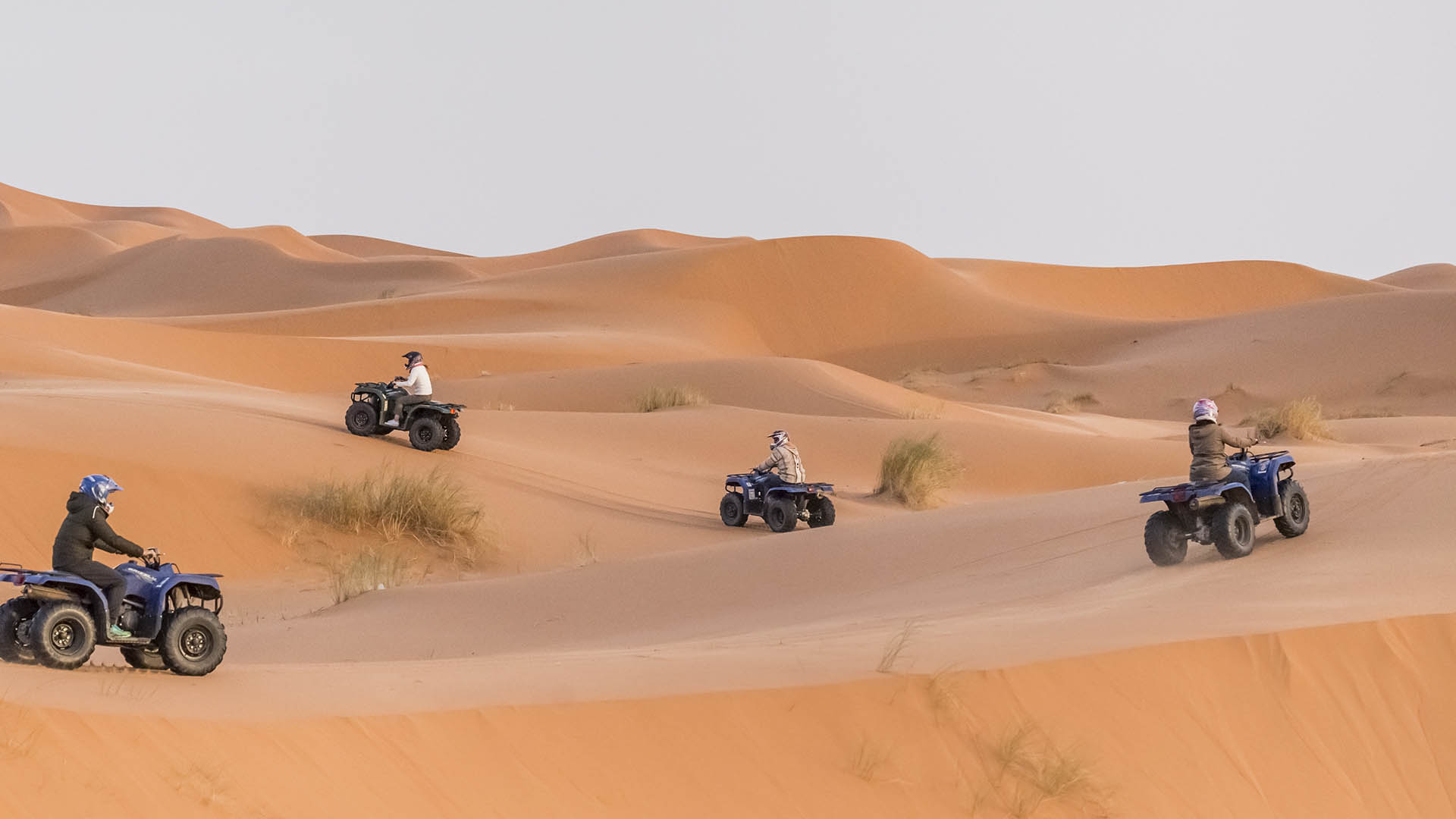 Desert Trip Adventure Holidays in Morocco are available year round and can be experience by 4x4 Off road, Desert Quad or Camel Trek in the Erg Chebbi Dunes.