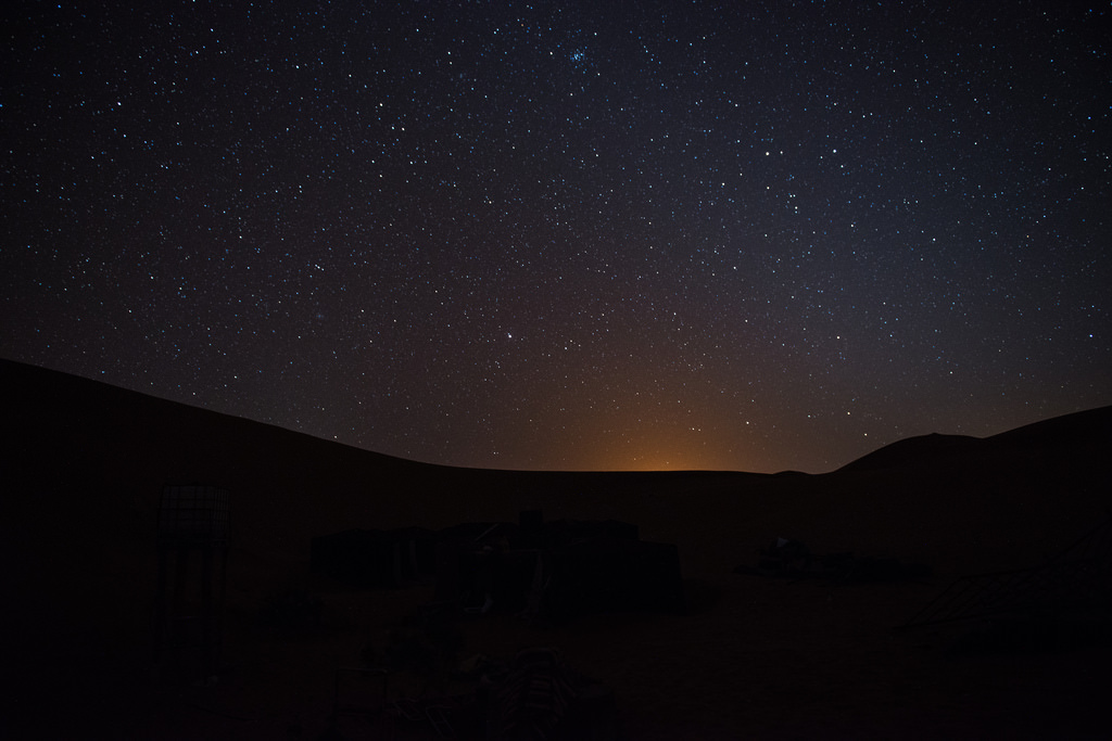 Spend night in Desert Sahara