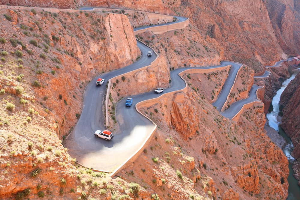 Dades Gorge,Travel to Sahara, Days from Marrakeck to Fes