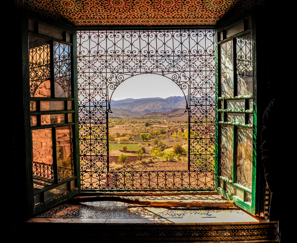 The Telouet Kasbah stands on the old caravan route towards the Sahara, between Ait Ben Haddou and Marrakesh