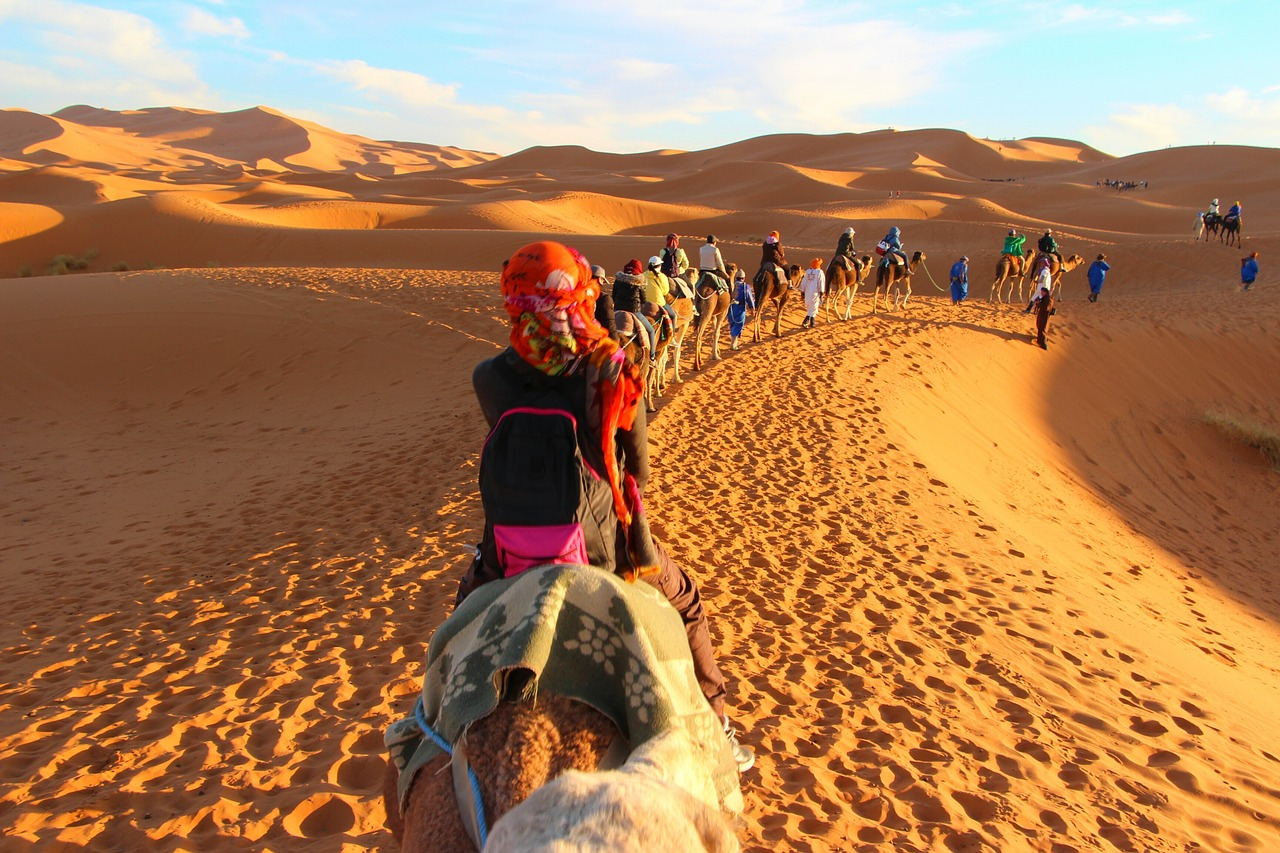 Camel Trekking in the Moroccan Sahara,9 Days Tour from Casablanca around Morocco